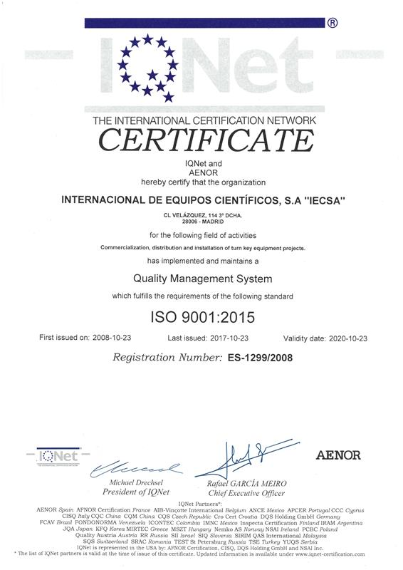 ISO9001 2017-2020 IQnet LR